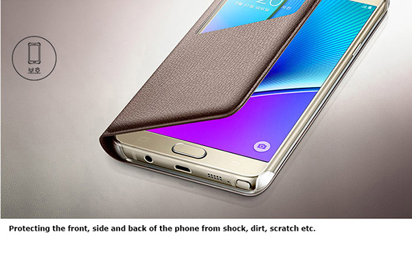 check out 05040 561eb Details about Genuine Samsung Galaxy Note 5 Slim S View Flip Cover Phone  Case Skin Original