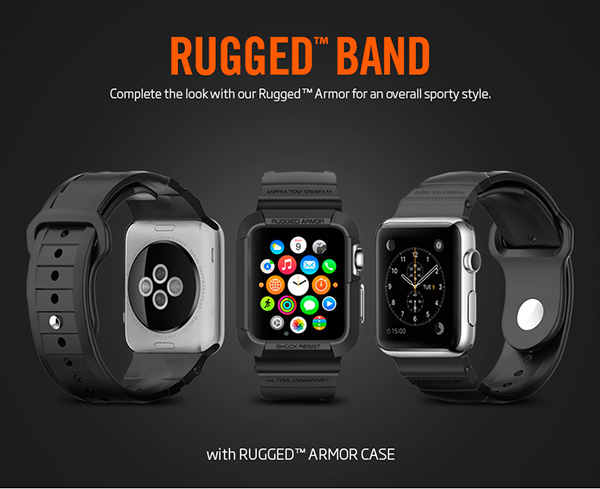 Spigen Rugged Band For Le Watch 42mm 01