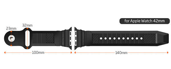 Spigen Rugged Band For Le Watch 42mm 02