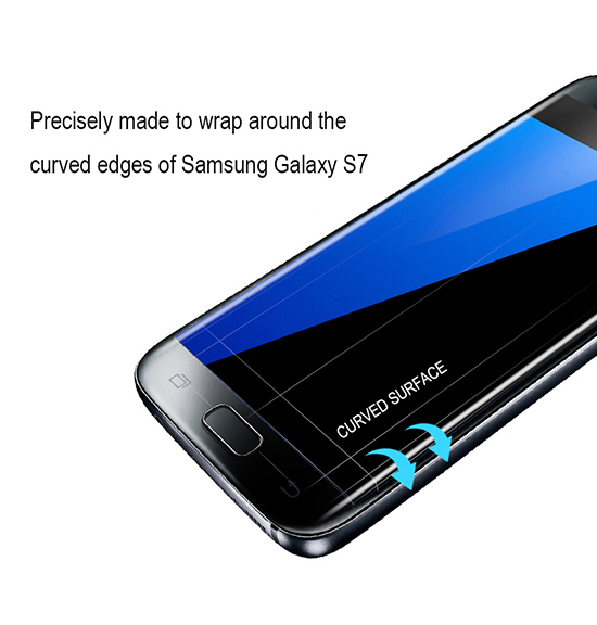 huge selection of 1a981 b21ae Details about Spigen Curved Crystal Screen Protector Protection Flim for  Samsung Galaxy S7