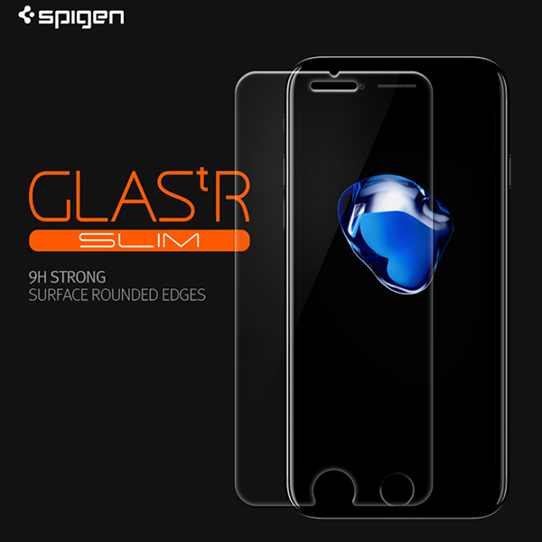 huge selection of 9c0a0 8407b Details about Genuine Spigen Tempered Glass Screen Protector Protection  Film for iPhone 7