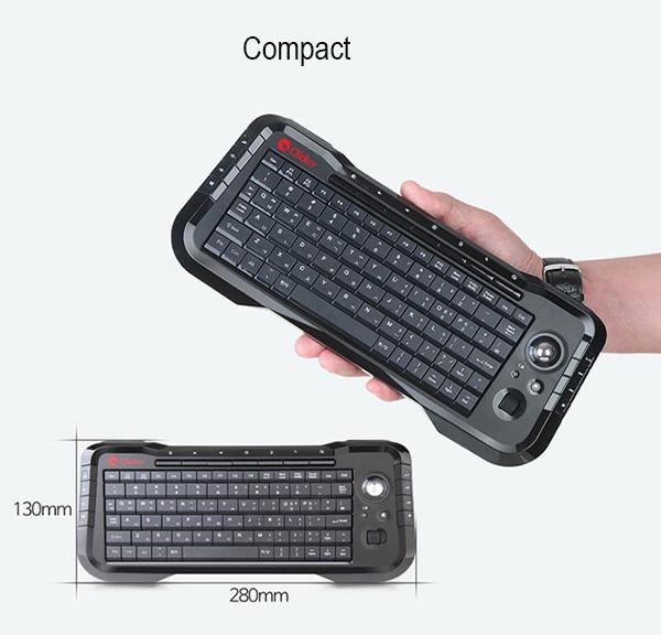 91f62f73d59 Mini PC Computer Laptop Gaming USB Wireless Trackball Keyboard ...