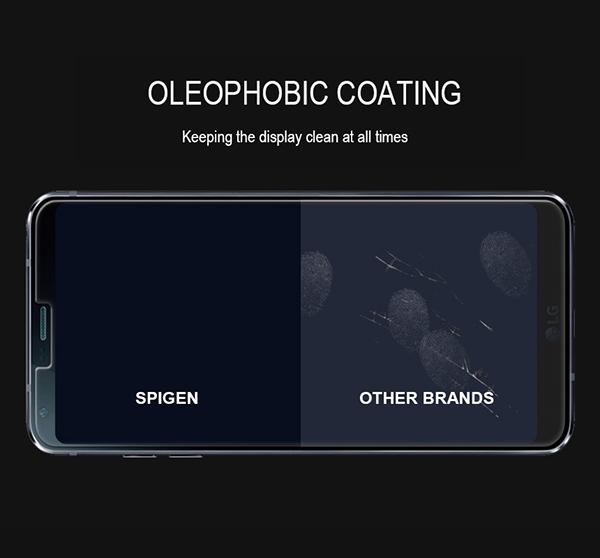 best service 055fe d79e2 Details about Genuine Spigen GLAStR Tempered Glass Shockproof Screen  Protector Film for LG G6