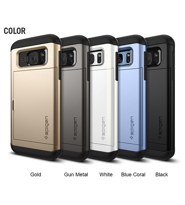 innovative design 9823f c15bd Details about Spigen Slim Armor Dual Layer Mobile Phone Case Cover for  Samsung Galaxy S7 Edge