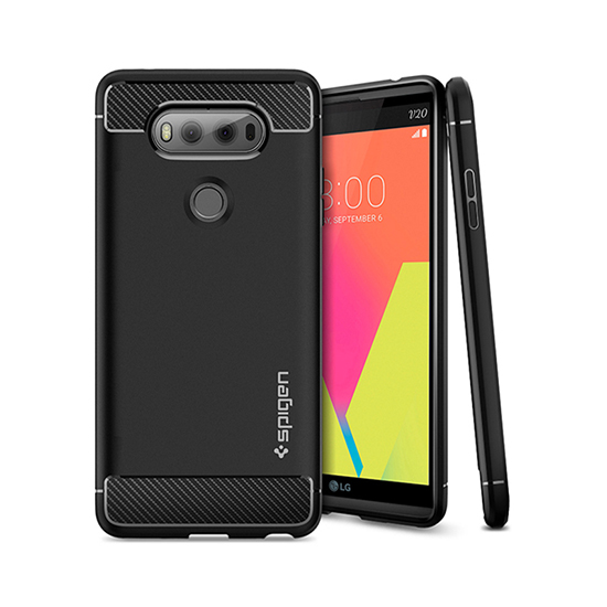official photos 5c3dc d53b5 Details about Genuine Spigen Rugged Armor Soft & Shockproof Mobile Phone  Case Cover for LG V20