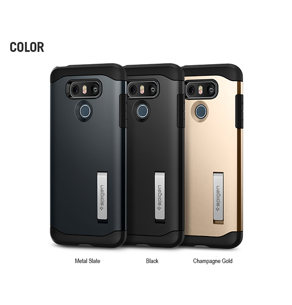new product 04cf5 3a138 Details about Genuine Spigen Slim Armor Dual Layered Cell Mobile Phone Case  Cover for LG G6