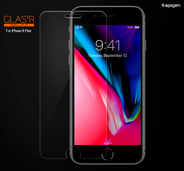 sports shoes beceb 40eb2 Details about Spigen Tempered Glass Screen Protector Protection Film for  Apple iPhone 8 8Plus