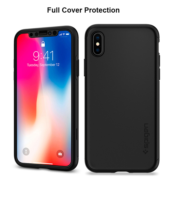 online store 2387c f110b Details about Apple iPhone X 360 Degree Full Cover Protection Phone Case  Cover Spigen Korea