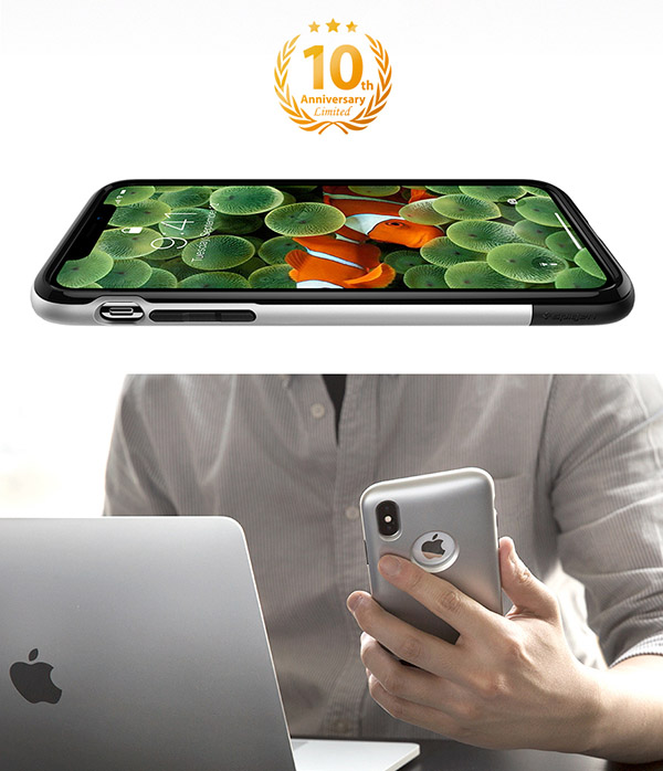 buy online 2fdc0 430d0 Details about Apple iPhone X Classic One Dual Layered Protection Phone Case  Cover Spigen Korea